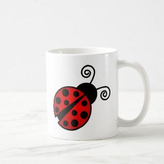 Mariquita linda - rojo y negro taza