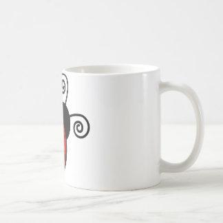 Mariquita linda - rojo y negro taza clásica