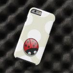 Mariquita (mariquita, señora escarabajo) con los funda de iPhone 6 tough