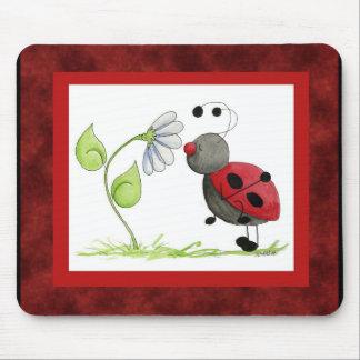 Mariquita Mousepad del insecto del Doodle Alfombrilla De Raton