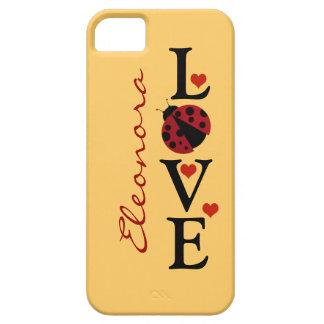 mariquita personalizada del amor iPhone 5 funda