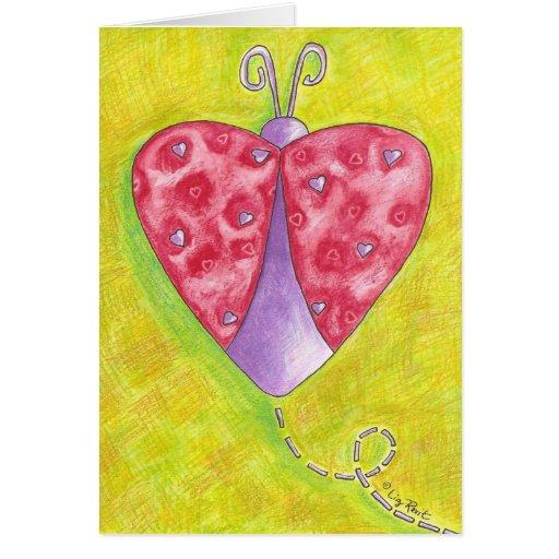 Mariquita preciosa tarjeta de felicitación