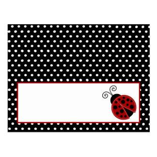 Mariquita programable del rojo de la tarjeta del l postales