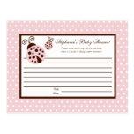 Mariquita programable del rosa de la tarjeta del c postales