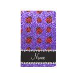 Mariquita púrpura conocida personalizada del brill cuaderno