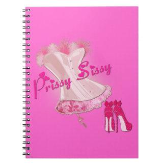 MARIQUITA QUISQUILLOSA - corsé emplumado rosa Cuaderno
