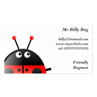 Mariquita roja, Sr. Billy Bug, Tarjetas De Visita