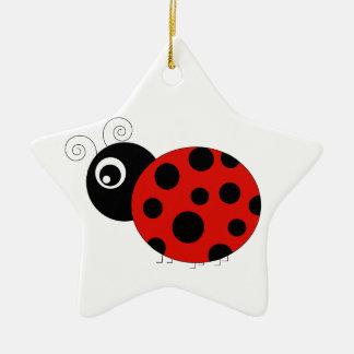 Mariquita roja y negra ornaments para arbol de navidad
