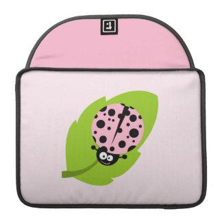 Mariquita rosa clara fundas para macbooks