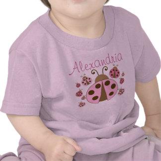 Mariquita rosada camisetas
