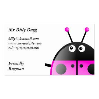 Mariquita rosada, Sr. Billy Bugg, Tarjetas De Visita