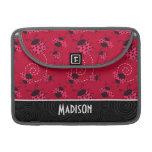 Mariquita rosada y negra linda funda para macbooks