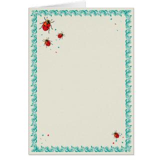 Mariquita Serie - tarjeta de felicitación en