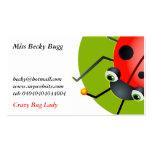 Mariquita, Srta. Becky Bugg, Tarjetas Personales