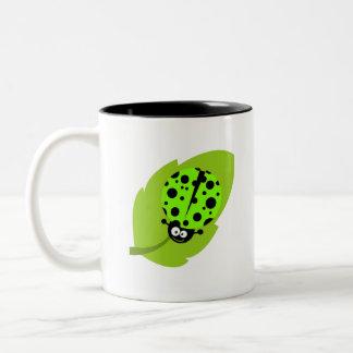 Mariquita verde chartreuse, de neón tazas de café