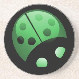 Mariquita verde posavasos personalizados