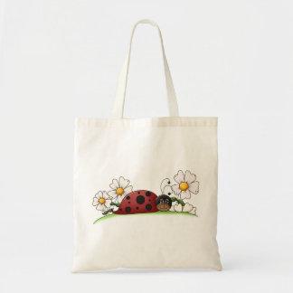Mariquita y flores bolsa
