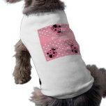 Mariquita y lunares rosados camisetas de mascota