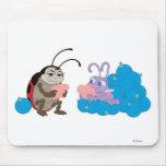 Mariquita y punto de la vida de un insecto que jue alfombrillas de ratón