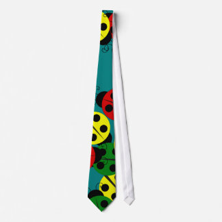 Mariquitas coloridas corbatas personalizadas