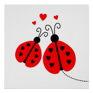 Mariquitas en poster del amor