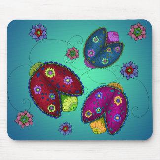 Mariquitas florales Mousepad