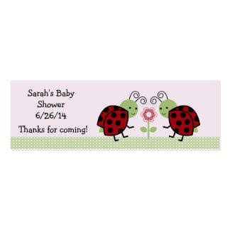 Mariquitas lindas y favor de la flor/etiquetas tarjetas de visita mini