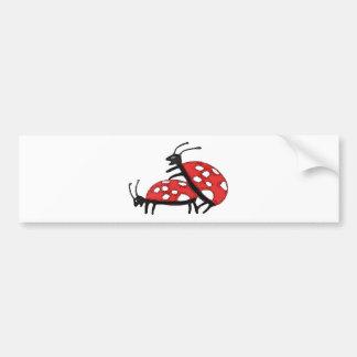 Mariquitas preciosas etiqueta de parachoque