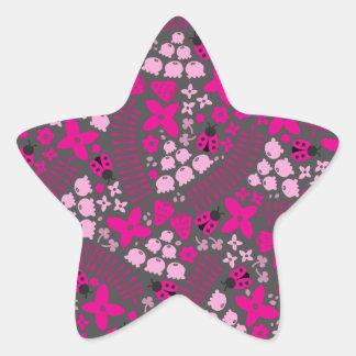 Mariquitas preciosas pegatina en forma de estrella