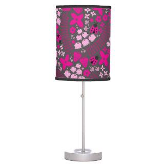 Mariquitas preciosas (rosa) lámpara de mesilla de noche