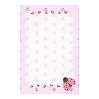 Mariquitas rosadas inmóviles papeleria