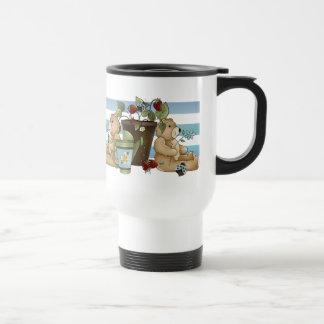 Mariquitas y osos del jardín taza de café