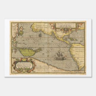 Maris Pacifici 1589 by Abraham Ortelius Sign