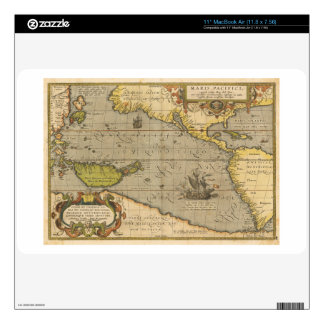 Maris Pacifici 1589 by Abraham Ortelius Skins For MacBook