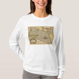 Maris Pacifici 1589 by Abraham Ortelius T-Shirt