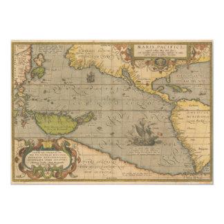 Maris Pacifici by Abraham Ortelius 1589 Card