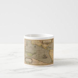 Maris Pacifici by Abraham Ortelius 1589 Espresso Cup