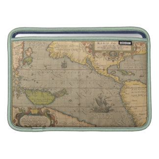 Maris Pacifici by Abraham Ortelius 1589 Sleeve For MacBook Air
