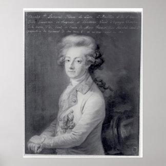 Mariscal Charles-José Príncipe de Ligne Poster