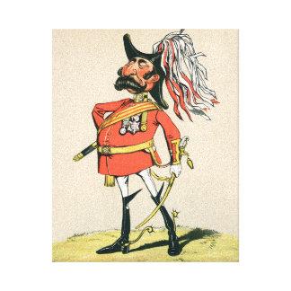 Mariscal de campo británico impresión de lienzo