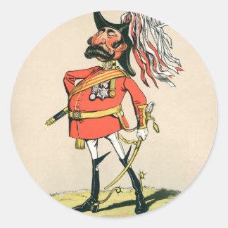 Mariscal de campo británico pegatina redonda