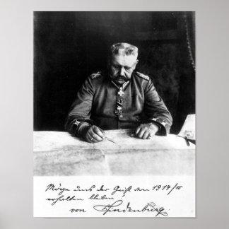 Mariscal Paul von Hindenburg, 1914 Póster