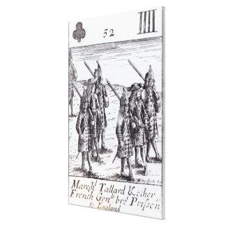 Mariscal Tallard y otros generales franceses Lona Envuelta Para Galerias