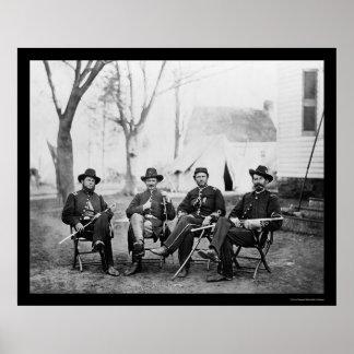 Mariscales de preboste, 3ro cuerpo del ejército 18 póster