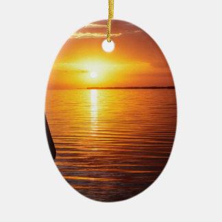 Marismas del místico de la puesta del sol adorno
