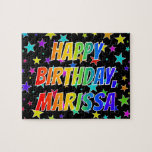 "[ Thumbnail: ""Marissa"" First Name, Fun ""Happy Birthday"" Jigsaw Puzzle ]"