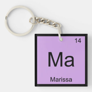 Marissa Name Chemistry Element Periodic Table Keychains