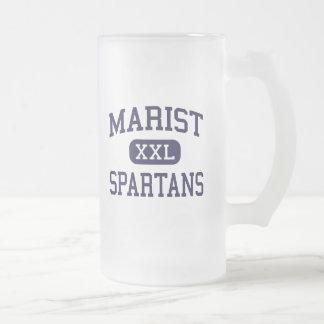Marist - Spartans - High School - Eugene Oregon 16 Oz Frosted Glass Beer Mug