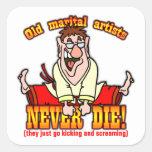 Marital Artists Square Stickers