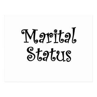 Marital Status Postcard